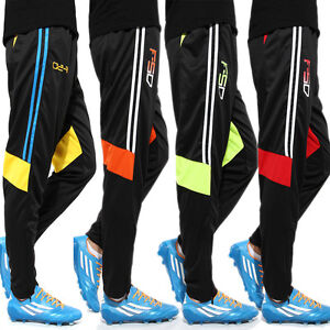 Men-039-s-Football-Soccer-Training-Pants-Fit-Sweat-Athletic-Trousers-Tracksuit-New