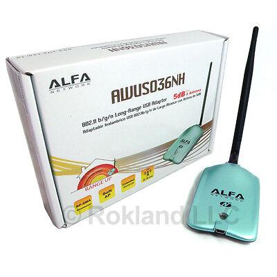 Alfa AWUS036NH 802.11n WIRELESS-N USB 2000mW w/ mount
