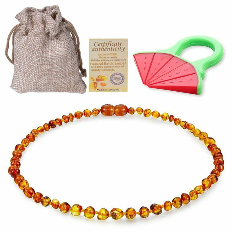 Amber Necklace for Babies Baby Teeth Pain Reduce Beads Anti