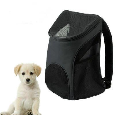 Portable Outdoor Cat Dog Pet Double Shoulder Mesh Bag Backpack Travel Carrier W