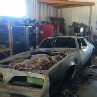 trans am pro street project car , tubbed