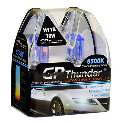 GP-Thunder 8500K H11B Xenon Light Bulbs Pair 70W for KIA Borrego Optima (70w Xenon Bulb)