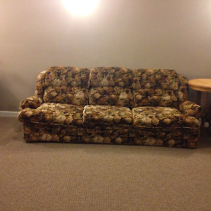 Couch & miscellaneous furniture