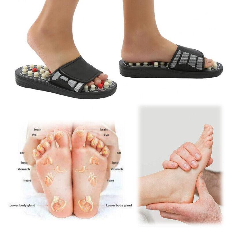 Massage Hausschuhe Sandalen Füße Reflexzonenmassage Akupressur Fußmassage M L
