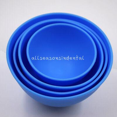 4 Size Dental Impression Material Flexible Rubber Mixing Bowl Non Stick Alginate
