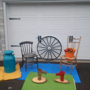 ANTIQUE GARDEN CHAIRS, WATERING CAN+MORE  * SEE EACH PRICE