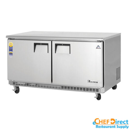 "Everest Etbwf2 60"" Double Door Undercounter Freezer"
