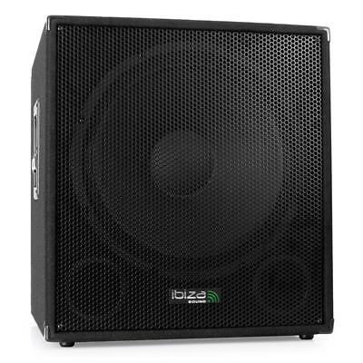 TOP IBIZA SUB18A 46CM SUBWOOFER BOX AKTIV BI-AMP 800W 2-BAND-EQUALIZER SPEAKON
