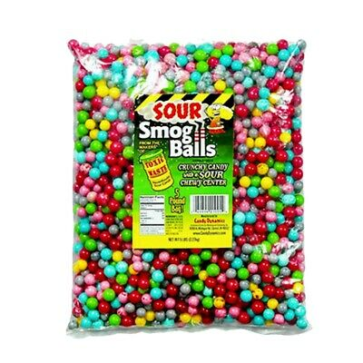 TOXIC WASTE Sour Smog Balls Bulk Poly Bag 5 LB Of Loose Candy Assorted Flavor ()