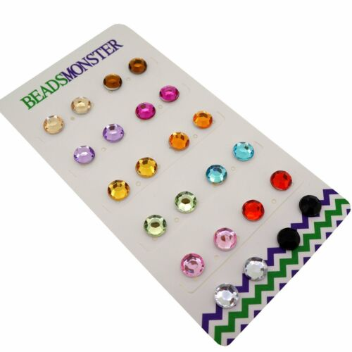 Magnetic Clip on Earrings Rhinestone Bead Gift for Teen Girl