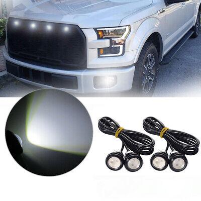 4pc White Ford SVT Raptor Style LED Grille Lighting Kit universal Fit Truck SUV