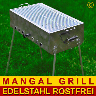MANGAL Schaschlik Grill MEGA aus Edelstahl + GRILLROST + MODEL 2019