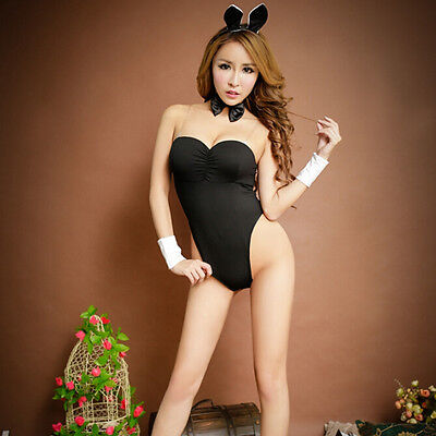 Sexy Bunny Girl Kostüm Kleid Hen Party Dessous Outfit 3 Farben ZP