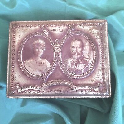 King George V Queen Mary 1935 Silver Jubilee Cadbury Candy Tin