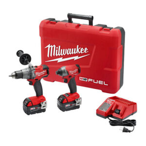 Milwaukee M18 Cordless Hammer Drill and Impact + 2 x 5 aH Batter