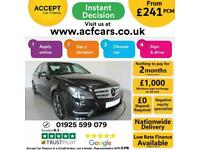 2012 BLACK MERCEDES C350 3.0 CDI AMG SPORT PLUS SALOON CAR FINANCE FR £241 PCM