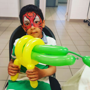 FUN Face painting Balloon twisting for Kids party