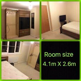 King Size furnished room for rent