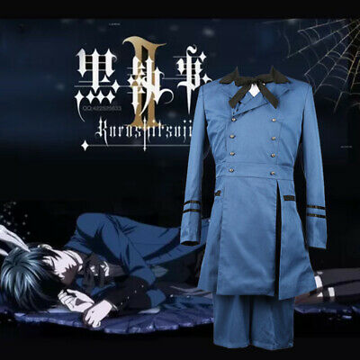 Butler Outfit Costume (Black Butler Ciel Phantomhive Cosplay Costume Cospaly Halloween Party)