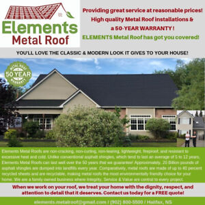 ELEMENTS METAL ROOF - Affordable style that's covered for life