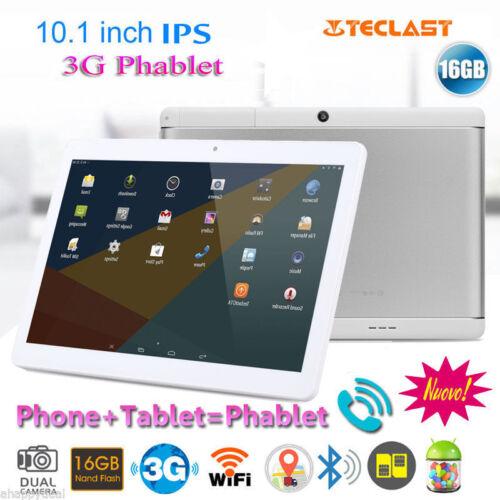 "10.1"" POLLICI ANDROID 6.0 3G TABLET PC PAD 16GB DUAL SIM/CAM SMARTPHON QUAD CORE"