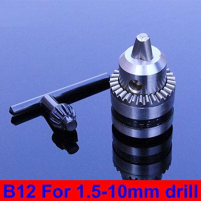 New B12 Drill Clip 1.5-10mm Small Drill Chuck Precision Chuck Taper Connection