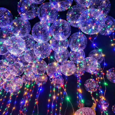 18inch Clear Latex Balloon With Led Strip 3M Copper Wire Luminous Party Balloons