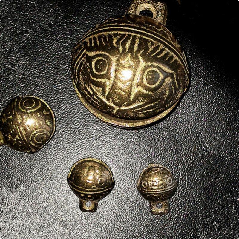 Tibetan Brass Bells Beads Craft Tiger
