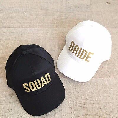 Bachelorette Cap Hat Party White Black Golden Print Wedding Squad Bride - Black Bachelorette Party