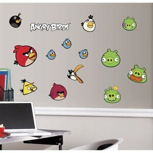 NEW: Angry Birds Peel and Stick Wall Decals
