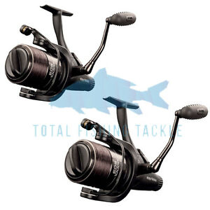 Fox NEW Carp Fishing EOS 10000 Baitrunner Freespool Reel x2 - CRL059