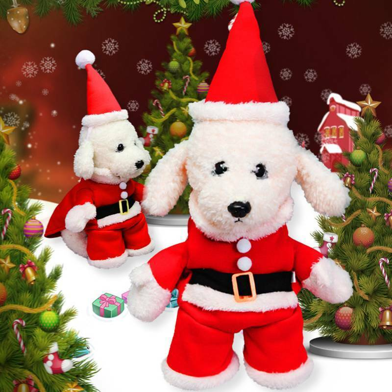 Christmas Pet Small Puppy Dog Cat Santa Claus Cape Coat Costume Outfit Cosplay 5