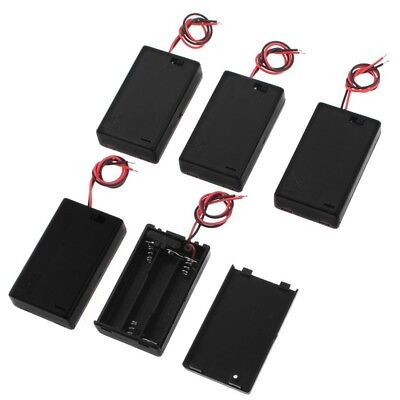 H3 5 Stueck Rechteckige Doppel Kabel 3 x 1,5 V AAA Batterie Halter mit Deckel 1 3 Aaa-batterie