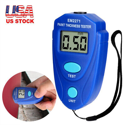 Digital Painting Thickness Meter Mini Lcd Car Coating Thickness Gauge Tester Hot
