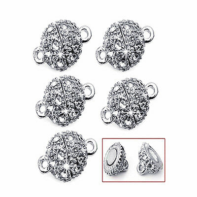 Rhinestone Magnetic Clasp Hook for DIY Bracelet Necklace Chain Jewelry - Chain Clasp