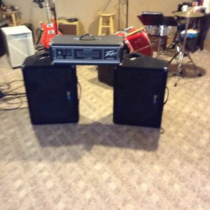 yorkville y 115 Monitors and Peavey 240 power head