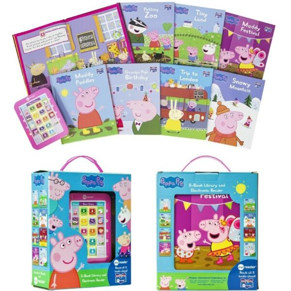 BNIB: Peppa Pig Me Reader Electronic Reader and 8-Sound Book Library