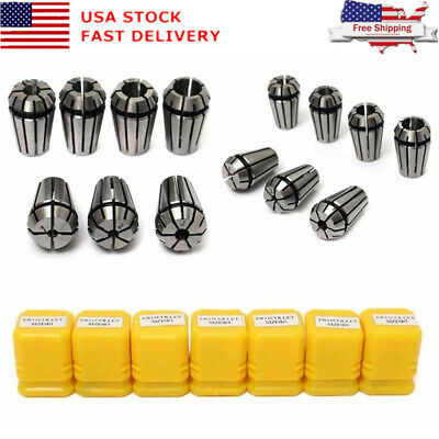 Drillpro 2pcs Er11 14 18 Inch Spring Collet Set For Cnc Milling Lathe Tool