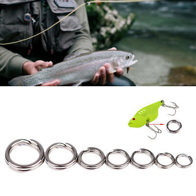 50Stk //pack Fishing Solid Stainless Steel Snap Split Ring Tackle Connecto Gift