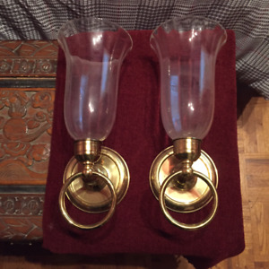 2 Wall Sconces - for candles