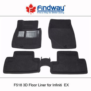 All weather 3D Car Floor Liners for 2008-2013 Infiniti EX