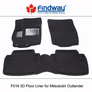 All weather 3D  Floor Liners for 2007-2018 Mitsubishi Outlander