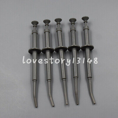 5 Pcs Dental Amalgam Carrier Gun Syringes Restorative Filling Plastic Instrument