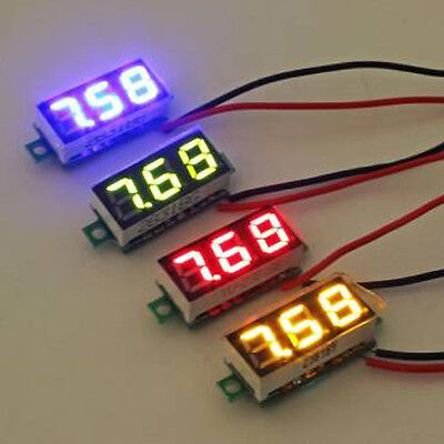 Digital Voltmeter Ammeter Led Dual Volt Meter Gauge Voltage Meter Dc 4.5-30v