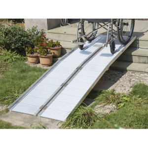 6' Folding Portable Wheelchair Ramp Scooter Mobility Ramp