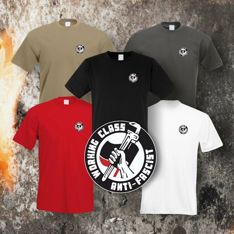 T-Shirt (5 versch. Farben) Motiv Working Class Antifascist (small)