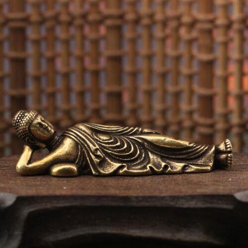 Reclining Buddha Statue Ornament Figurines Antique Guanyin Sleeping Buddha