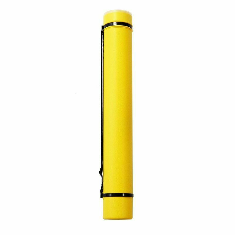 Plastic Expanding Storage Tube Posters Pictures Documents Drawing Holder Yellow