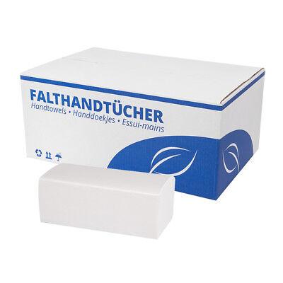 Papierhandtücher [3.200 Blatt] weiß Falthandtücher 25x23cm 2-lagig ZZ-Falzung