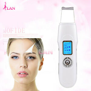 Ultrasonic Skin Scrubber Facial Massgage Deep Cleaner Beauty Remove Acne